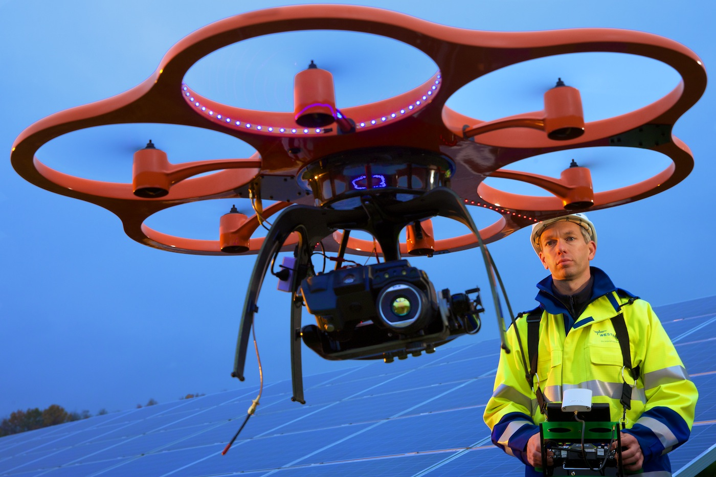 RWE | Wärmebildkameraüberwachung von Solarzellen-Anlagen